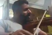 فیلم | ویولن نوازی و خوانندگی هادی چوپان قهرمان پرورشاندام جهان