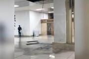 فیلم | ریزش بخشی از سقف کاذب فرودگاه مهرآباد تهران بر اثر شدت باران شب گذشته!
