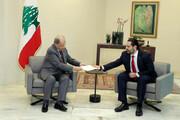 فیلم | لحظه تحویل استعفا «سعد حریری» از نخست وزیری به رئیس جمهور لبنان