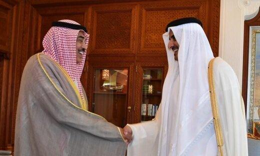 امیر کویت به امیر قطر پیام فرستاد