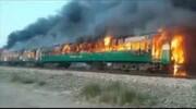 آتشسوزی مرگبار قطار در پاکستان؛ ۶۴ نفر کشته شدند