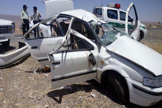 واژگونی خودرو در البرز یک کشته بر جا گذاشت