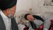 عیادت وزیر اطلاعات از آیت الله امینی نجف آبادی