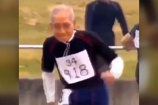 فیلم | حضور پیرمرد ۱۰۲ ساله ژاپنی در مسابقه دوومیدانی!