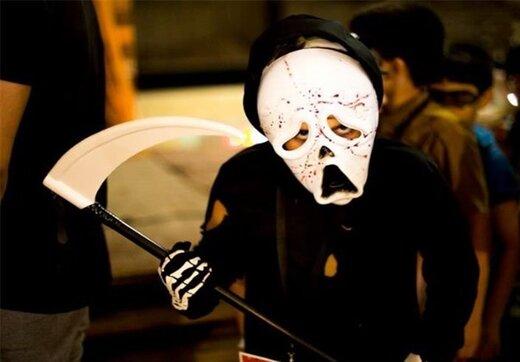 پلیس به جشن هالوین در شهر پرند با گریمهای ترسناک خاتمه داد