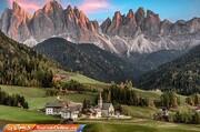 تصاویر   حال و هوای پاییزی برای توریستهای عاشق کوههای دولومیت ایتالیا
