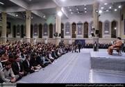 هزاران نفر از دانشآموزان و دانشجویان با رهبر انقلاب دیدار کردند
