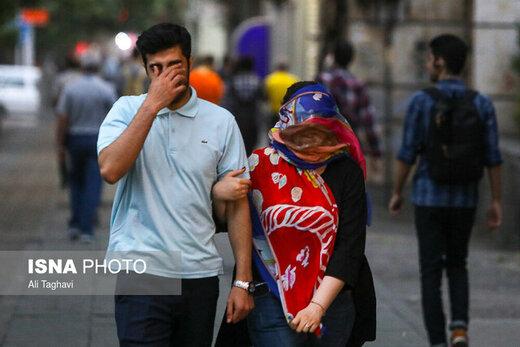 وزش باد شدید در تهران