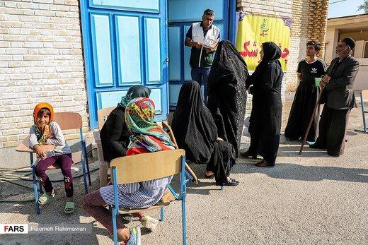 حضور پزشکان بسیجی در مناطق محروم خوزستان