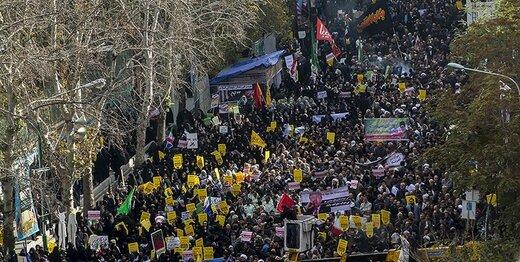 قطعنامه راهپیمایان یوم الله ۱۳ آبان؛ هرگونه تفرقهافکنی و دوقطبیسازی در جامعه شدیداً محکوم است