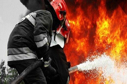 بازار رضای مشهد آتش گرفت