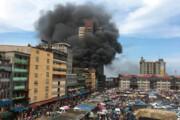 فیلم   آتش سوزی وسیع در بازار مالوگون در قلب تجاری لاگوس در نیجریه