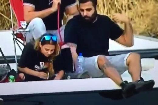 فیلم   صحنه جنجالی استعمال کوکائین یک دختر در حاشیه لیگ اسرائیل
