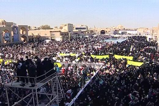ماجرای شعار دادن در زمان سخنرانی روحانی در جمع مردم یزد چه بود؟ /توئیت حسامالدین آشنا درباره سخنان ضدفساد رئیسجمهور