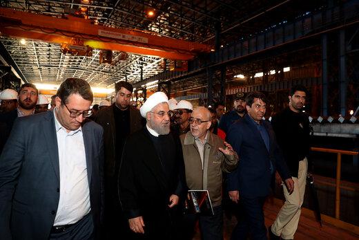 افتتاح کارخانههای مگامدول چادرملو و توربینسازی غدیر یزد با حضور رئیس جمهور