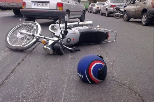 فیلم | لحظه تصادف شدید دو موتورسوار در تهران