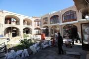 مرمت سرای ایکی قاپیلی بازار تبریز رو به اتمام است