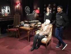 امیر تاجیک با موبایل از زندگی چارلی چاپلین مستند ساخت