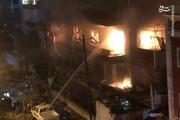 تصاویر | حمله هوایی اسرائیل به ساختمانی مسکونی در دمشق