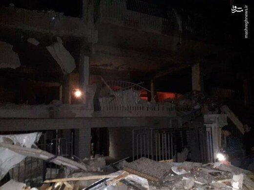 حمله هوایی اسرائیل به ساختمانی مسکونی در دمشق
