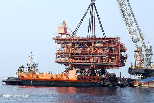 Iran installs new gas platform in South Pars field