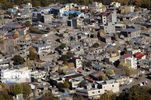 تصاویر هوایی از مناطق زلزله زده «ورنکش» و «ورزقان»