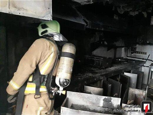 آتش سوزی آشپزخانه رستوران