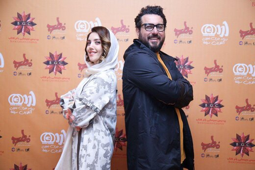 تصاویرِ عایشه گل، مهران احمدی و محسن کیایی در اکران مردمی فیلم «مطرب»