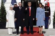 عکس | پوشش همسران ترامپ و اردوغان در کاخ سفید