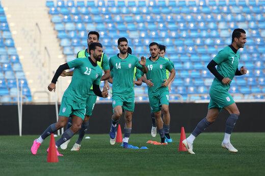 تمرین تیم ملی در اردن