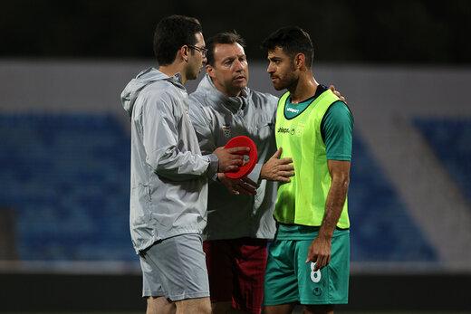 تمرین تیم تمرین تیم ملی در اردن