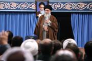 تصویری از دیدار بسیجیان با رهبر انقلاب اسلامی