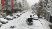 تصاویر | برف پاییزی تهران را سفیدپوش کرد