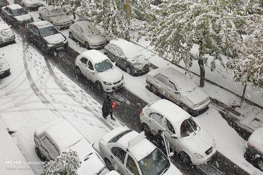 برف پایزی تهران راسفیدپوش کرد