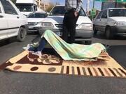 عکس | یک اعتراض متفاوت به گرانی بنزین در شیراز