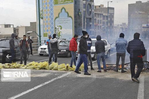 اعتراضات به گرانی بنزین در شهرهای مختلف به روایت ایرنا