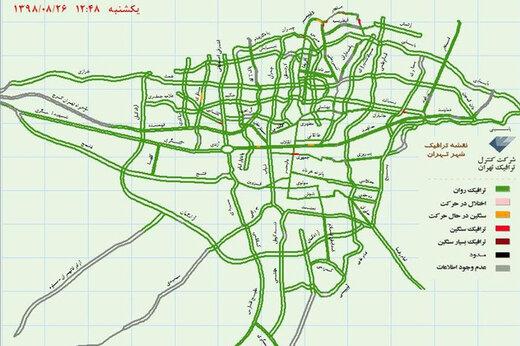 عکس | وضعیت ترافیکی عجیب در تهران