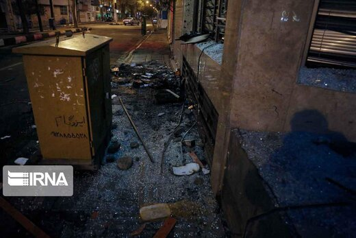 ببینید | اولین تصاویر ایرنا از تخریب اموال عمومی در تهران