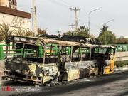 تصاویر جدید از اقدامات خرابکارانه به بهانه نرخ جدید بنزین