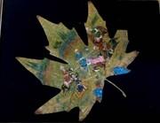 تصاویر | خلق شاهکارهای هنری روی برگ درخت توسط هنرمند ایرانی