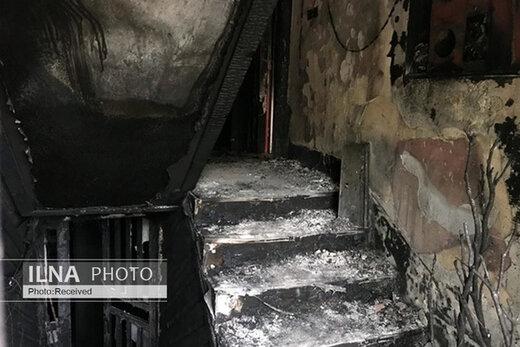 آتشسوزی در یک پاساژ در شهرک اکباتان