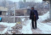 تصاویر | بارش برف، زندگی در مناطق زلزلهزده «میانه» را سخت کرد