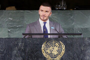 فیلم | سخنرانی دیوید بکام در سازمان ملل