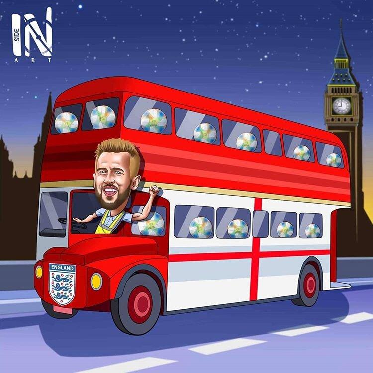 اینم سوغاتی هری کین از بازیهای مقدماتی یورو!