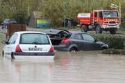 تصاویر | سیل مرگبار فرانسه خودروها را متوقف کرد