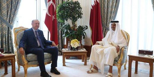 اردوغان با امیر قطر دیدار کرد