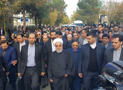 تشکر رئیس جمهور از رهبر انقلاب/وحدت مردم ایران زبانزد است