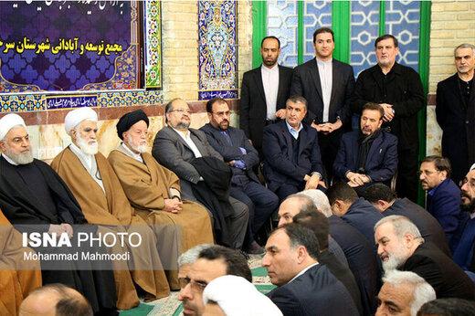 حضور حسن روحانی در مراسم ختم خواهرش+عکس