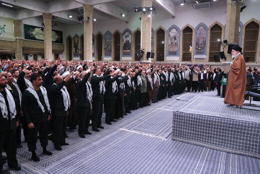 دیدار بسیجیان با رهبر معظم انقلاب اسلامی