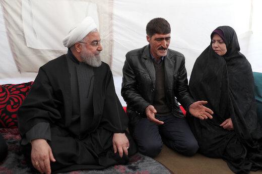 بازدید رئیس جمهور از مناطق زلزله زده میانه